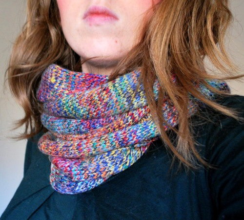 Rainbow Cowl Knitting Pattern : Rainbow Cowl
